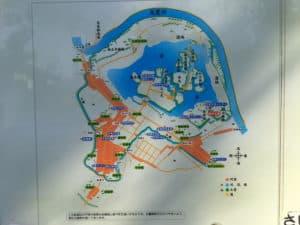 岩槻城の縄張り図
