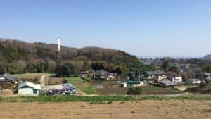 愛川町中里の高台