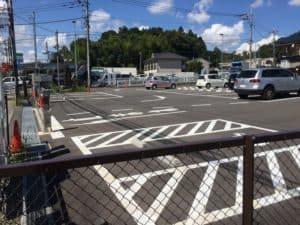 滝山城の駐車場