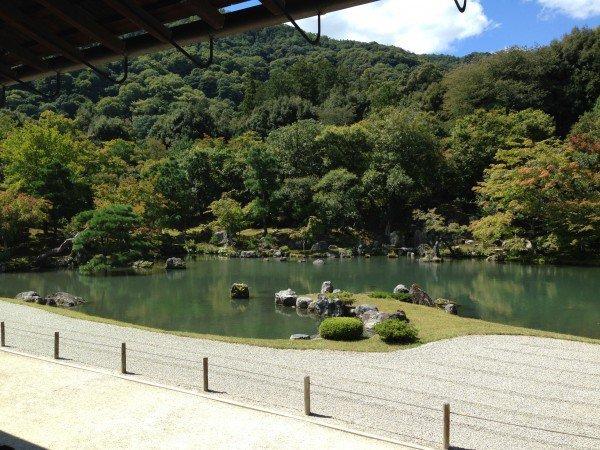 天龍寺の庭園