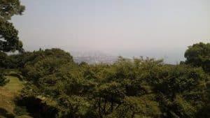 石垣山城から小田原を望む