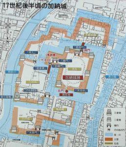 加納城の縄張図