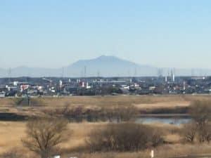 関宿城から望む筑波山