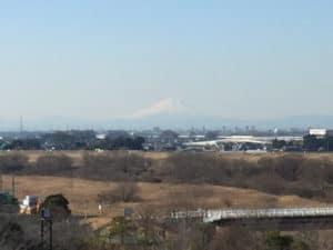 関宿城から望む富士山