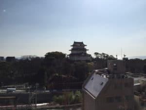 八幡山古郭東曲輪から望む小田原城
