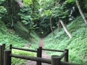 小田原城の大堀切