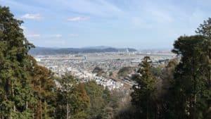 諏訪原城から金谷方面の展望