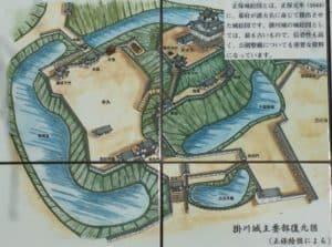 掛川城・案内図
