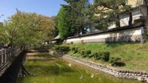 上田藩主居館の水堀