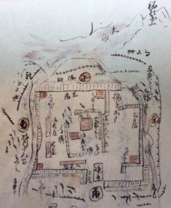 墨俣城の縄張図