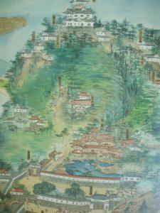 岐阜城の縄張図