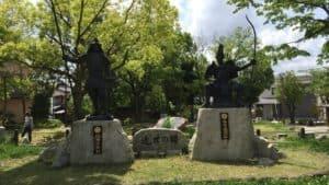 桶狭間古戦場公園の銅像