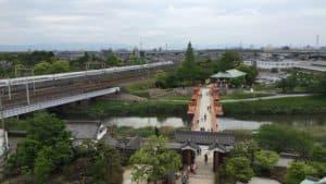 清洲城から清洲古城方面の展望