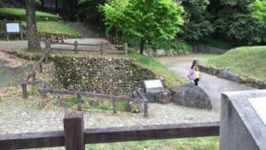 岐阜城の麓遺構