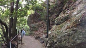 岐阜城の山頂部