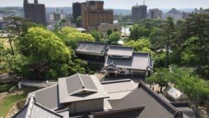 岡崎城天守閣からの眺め