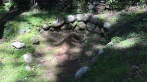 真弓山城の井戸跡