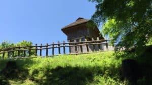 真弓山城の西の丸・物見矢倉
