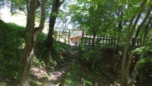 真弓山城の本丸脇