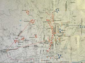 設楽原の戦い史跡地図(長篠の戦い)