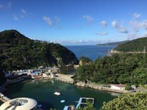下田城のお茶ヶ崎展望台から撮影