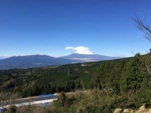 山中城から望む富士山