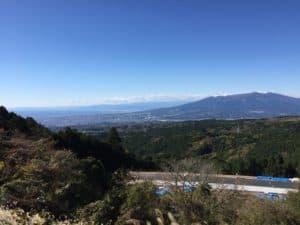 山中城からは駿河湾も見えます