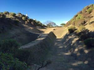 山中城の障子掘