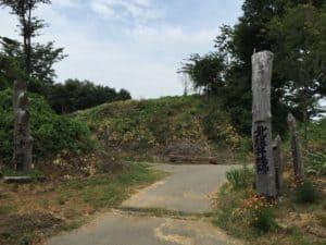 北熊井城の本丸脇