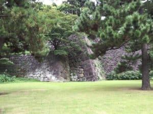 江戸城二の丸の石垣