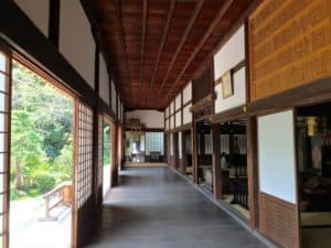 龍潭寺の廊下