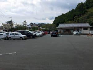 龍潭寺の駐車場