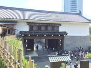 駿府城の東御門(櫓門)