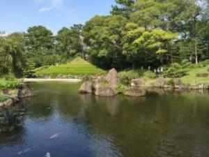 駿府城の紅葉山庭園