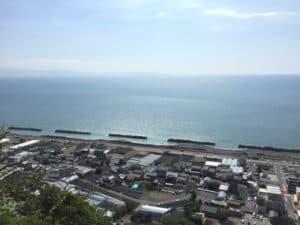 久能山城からの眺め