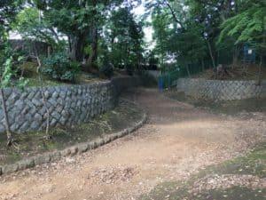 世田谷城の堀