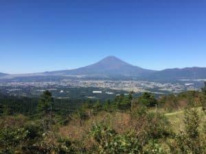 足柄城から望む富士山