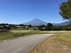 深沢城周辺から望む富士山