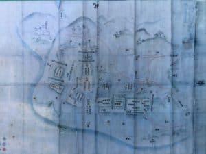 河村城の縄張り図