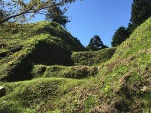 河村城の畝堀(障子堀)