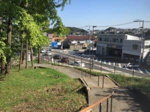 菅原神社前の鎌倉街道