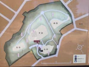 茅ヶ崎城の縄張図
