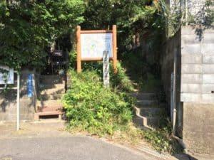 小沢城南側の登城口
