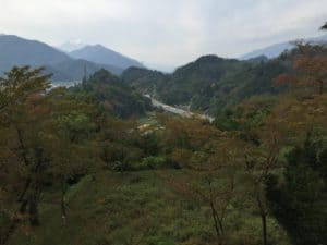 勝山城から望む富士山
