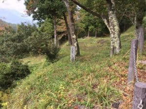 勝山城の二の丸