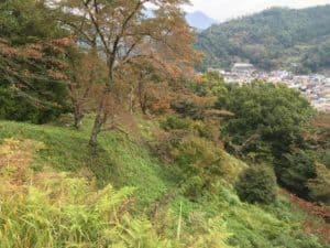 勝山城から源生見張り台方角