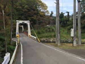 勝山城のつり橋