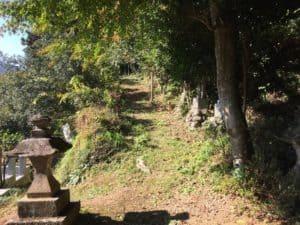 浄福寺城への登山口