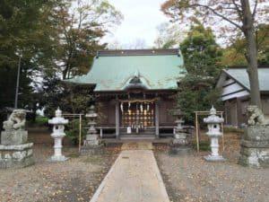 有鹿神社の旧手水舎の跡