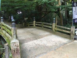 書写山円教寺の湯屋橋